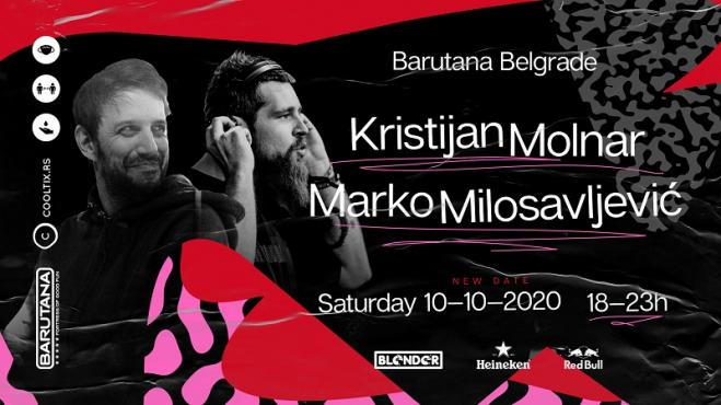 Muzička selekcija Kristijana Molnara i Marka Milosavljevića, ove subote u Barutani!