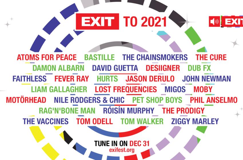 EXIT u 2021: U novu godinu uz The Prodigy, The Cure, Davida Guettu, Migos i brojne druge velikane!