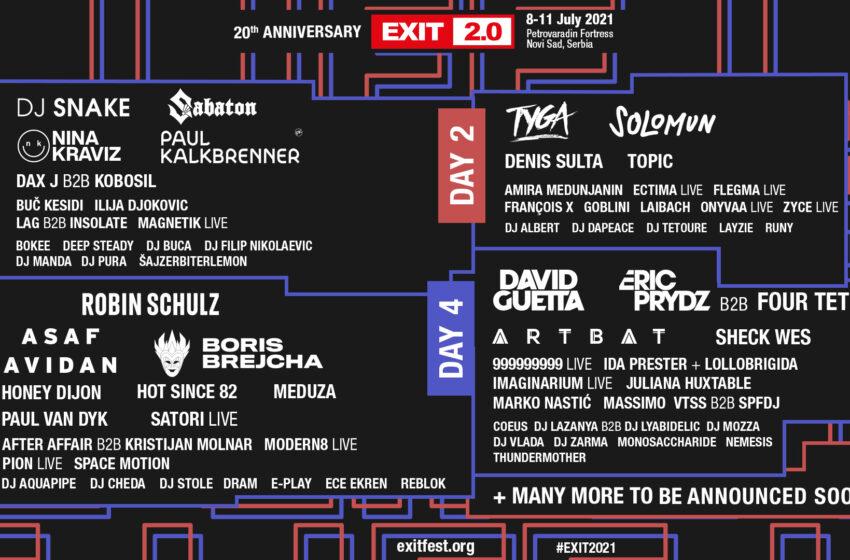 Veliku proslavu dve decenije EXIT festivala pojačavaju Robin Schultz, Satori live i Ece Ekren