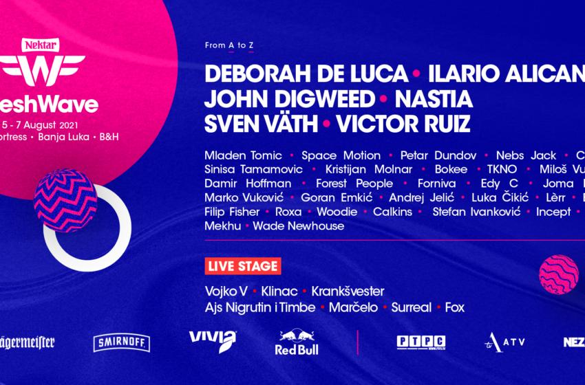 Sven Vath, Ilario Alicante, Nastia i još pedeset izvođača stižu na deveti Fresh Wave Festival!