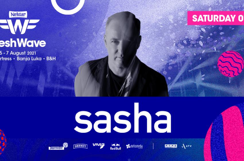 Fenomenalni DJ SASHA usled otkazivanja nastupa John Digweeda stiže na Nektar Fresh Wave Festival!