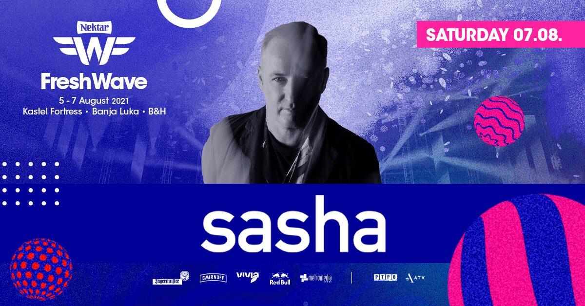 Fenomenalni DJ SASHA used otkazivanja nastupa John Digweeda stiže na Nektar Fresh Wave Festival!